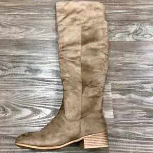 Shoes - NWT taupe over the knee boots